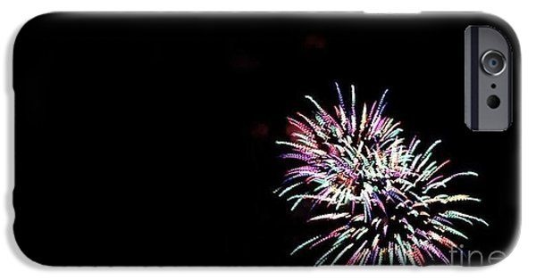 4th July Pyrography iPhone Cases - Firework iPhone Case by Anthony Pearson