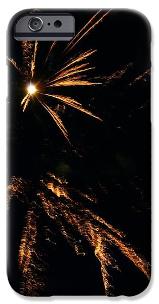 Fireworks iPhone Cases - Firework Fun 31 iPhone Case by Andrew Lahay