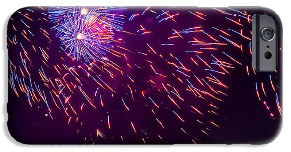 Fourth Of July iPhone Cases - Firework III iPhone Case by Pablo Rosales