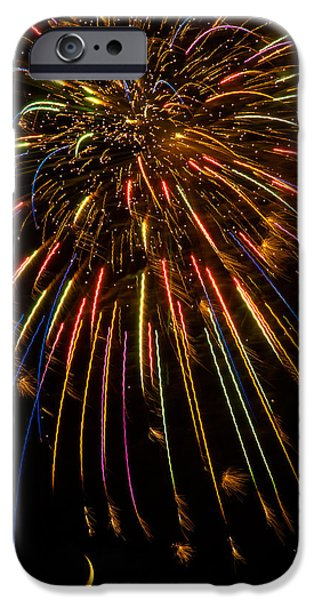 Fireworks iPhone Cases - Firework Indian Headdress iPhone Case by Darryl Dalton