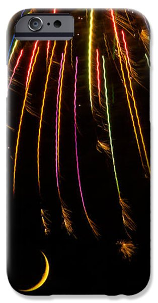 Fireworks Photographs iPhone Cases - Firework Indian Headdress iPhone Case by Darryl Dalton