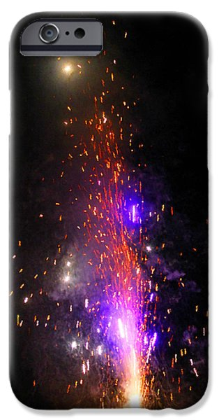 Firework Water Color iPhone Case by Nathanael Verrill