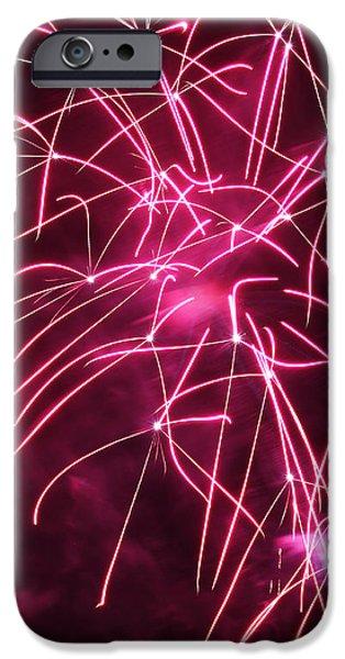 Rockets Red Glare Fireworks iPhone Case by Howard Tenke