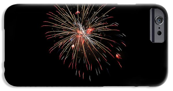 4th July Photographs iPhone Cases - Fireworks 1 iPhone Case by Marilyn Hunt