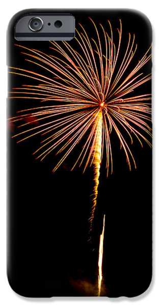 4th July iPhone Cases - Fireworks 10 iPhone Case by Paul Freidlund