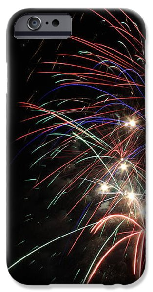 Fireworks 10 iPhone Case by Penny Rogers