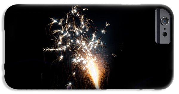 Independance Lake iPhone Cases - Fireworks 11 iPhone Case by Cassie Marie Photography