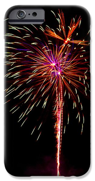 4th July iPhone Cases - Fireworks 11 iPhone Case by Paul Freidlund