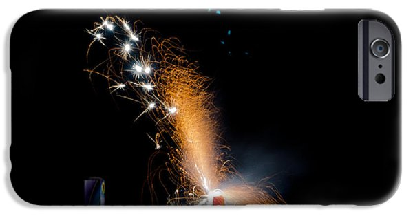 Independance Lake iPhone Cases - Fireworks 12 iPhone Case by Cassie Marie Photography