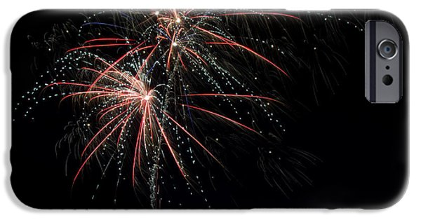 Independance Lake iPhone Cases - Fireworks 13 iPhone Case by Cassie Marie Photography