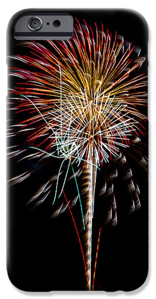 4th July Photographs iPhone Cases - Fireworks 14 iPhone Case by Paul Freidlund