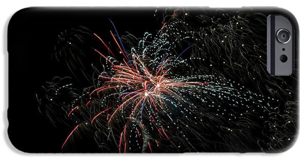 Independance Lake iPhone Cases - Fireworks 15 iPhone Case by Cassie Marie Photography