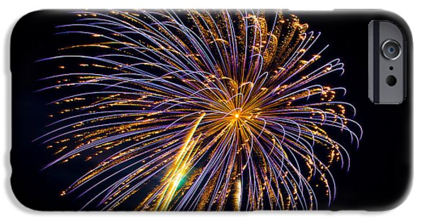 4th July iPhone Cases - Fireworks 15 iPhone Case by Paul Freidlund
