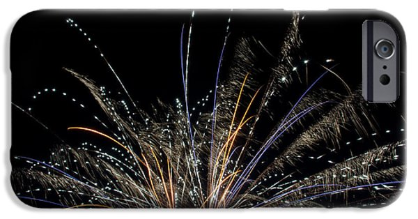 Independance Lake iPhone Cases - Fireworks 17 iPhone Case by Cassie Marie Photography