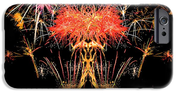 Independance Day iPhone Cases - Fireworks 17 iPhone Case by Michael Baboval