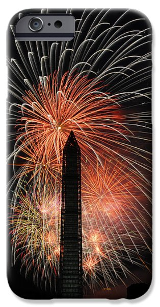 D.c. iPhone Cases - Fireworks 2 iPhone Case by David Lunde