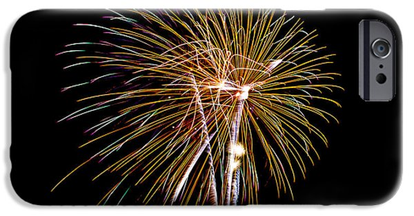 4th July iPhone Cases - Fireworks 2 iPhone Case by Paul Freidlund