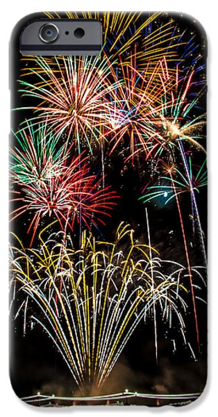 Fireworks iPhone Cases - Fireworks 2014-4 iPhone Case by Ronald Hunt