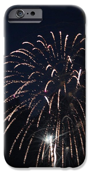 Fourth Of July iPhone Cases - Fireworks 2014 I iPhone Case by Suzanne Gaff