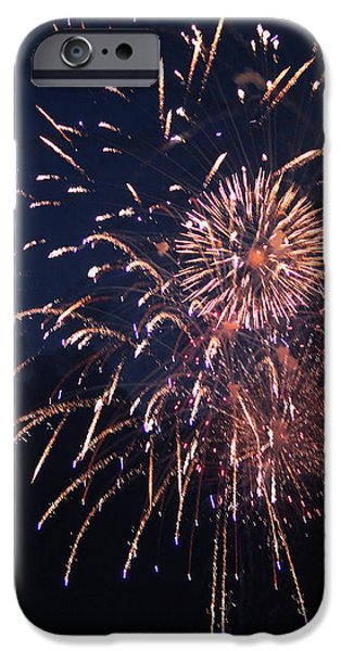 Fourth Of July iPhone Cases - Fireworks 2014 IX iPhone Case by Suzanne Gaff