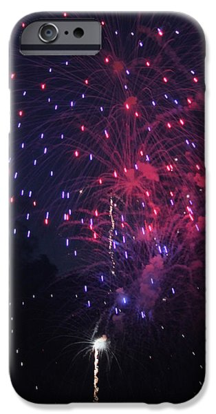 Fourth Of July iPhone Cases - Fireworks 2014 VI iPhone Case by Suzanne Gaff