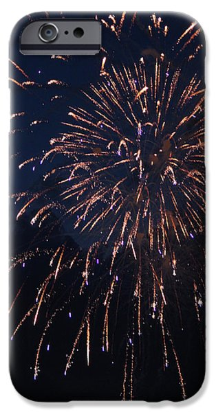Fourth Of July iPhone Cases - Fireworks 2014 VII iPhone Case by Suzanne Gaff