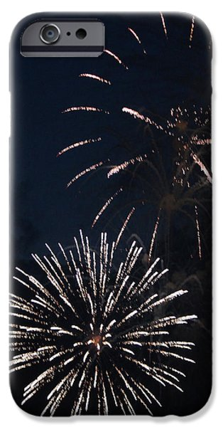 Fourth Of July iPhone Cases - Fireworks 2014 VIII iPhone Case by Suzanne Gaff