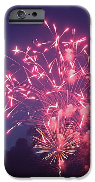 Fourth Of July iPhone Cases - Fireworks 2014 X iPhone Case by Suzanne Gaff
