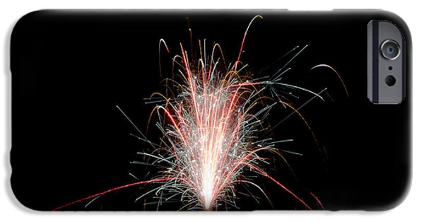 Independance Lake iPhone Cases - Fireworks 24 iPhone Case by Cassie Marie Photography