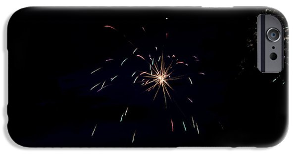 Independance Lake iPhone Cases - Fireworks 28 iPhone Case by Cassie Marie Photography