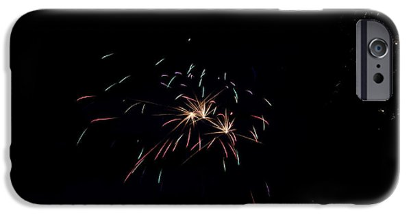 Independance Lake iPhone Cases - Fireworks 29 iPhone Case by Cassie Marie Photography