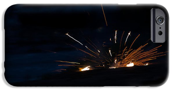 Independance Lake iPhone Cases - Fireworks 3 iPhone Case by Cassie Marie Photography