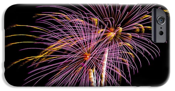 July 4th iPhone Cases - Fireworks 3 iPhone Case by Paul Freidlund