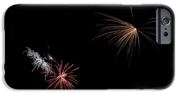 Independance Lake iPhone Cases - Fireworks 31 iPhone Case by Cassie Marie Photography