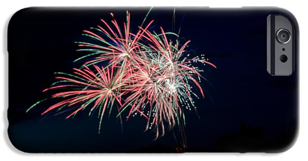 Independance Lake iPhone Cases - Fireworks 33 iPhone Case by Cassie Marie Photography