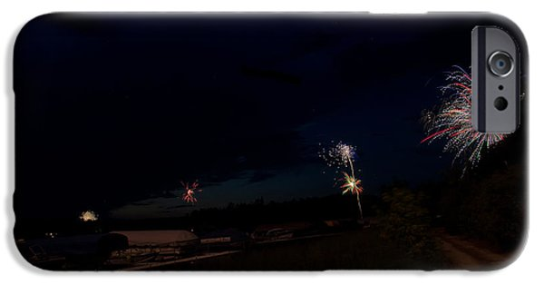Independance Lake iPhone Cases - Fireworks 34 iPhone Case by Cassie Marie Photography