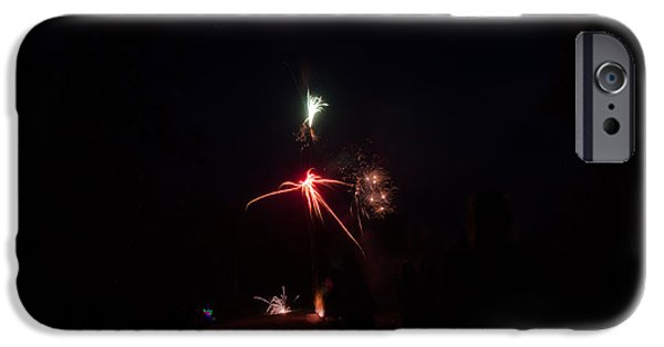 Independance Lake iPhone Cases - Fireworks 35 iPhone Case by Cassie Marie Photography