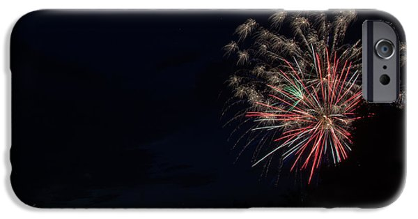 Independance Lake iPhone Cases - Fireworks 36 iPhone Case by Cassie Marie Photography