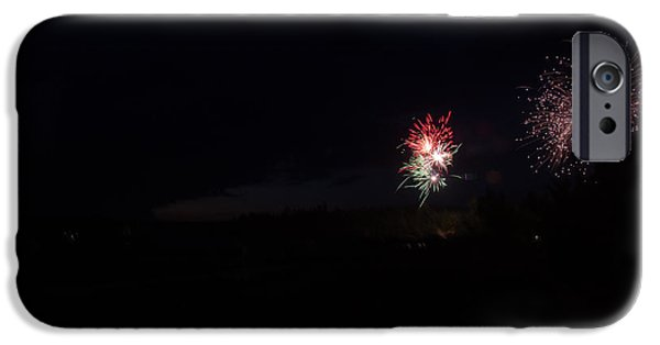 Independance Lake iPhone Cases - Fireworks 37 iPhone Case by Cassie Marie Photography