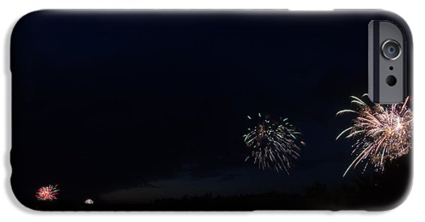Independance Lake iPhone Cases - Fireworks 38 iPhone Case by Cassie Marie Photography