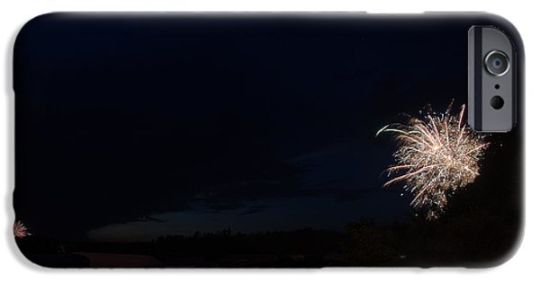 Independance Lake iPhone Cases - Fireworks 39 iPhone Case by Cassie Marie Photography