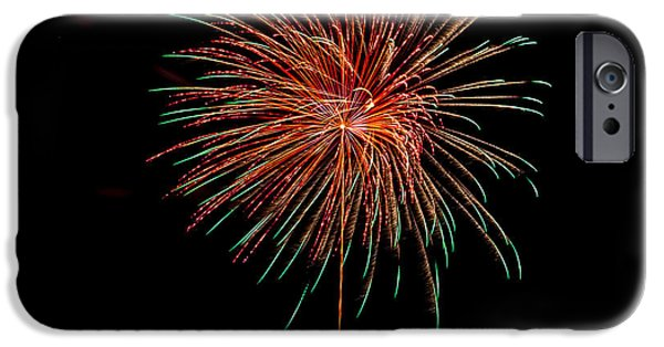 4th July iPhone Cases - Fireworks 4 iPhone Case by Paul Freidlund