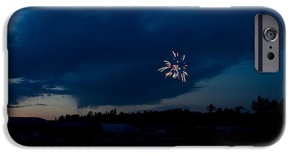 Independance Lake iPhone Cases - Fireworks 5 iPhone Case by Cassie Marie Photography