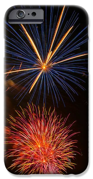 Fourth Of July iPhone Cases - Fireworks 5 iPhone Case by Chris Flees