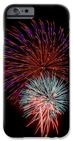 4th July iPhone Cases - Fireworks 5 iPhone Case by Paul Freidlund