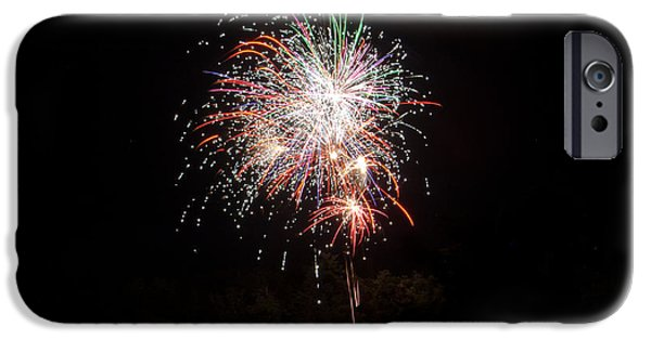 Independance Day iPhone Cases - Fireworks 54 iPhone Case by Cassie Marie Photography