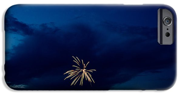 Independance Lake iPhone Cases - Fireworks 6 iPhone Case by Cassie Marie Photography