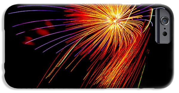 4th July iPhone Cases - Fireworks 6 iPhone Case by Paul Freidlund