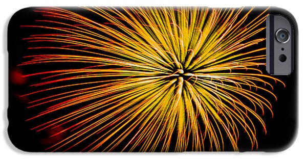 4th July iPhone Cases - Fireworks 7 iPhone Case by Paul Freidlund