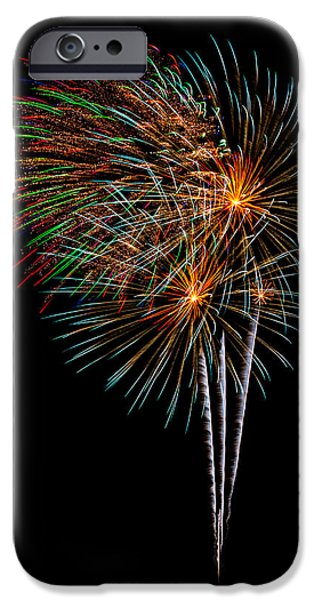 4th July iPhone Cases - Fireworks 8 iPhone Case by Paul Freidlund